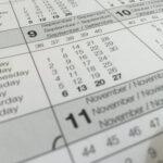 Waar een kalender wel niet handig voor is